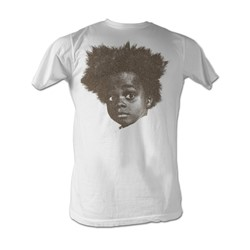Buckwheat - Big Head Mens T-Shirt In Dirty White