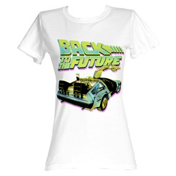 Back To The Future - Btf Neon Womens T-Shirt In White
