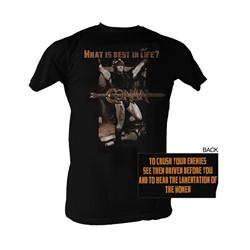 Conan The Barbarian - Best Life Mens T-Shirt In Black