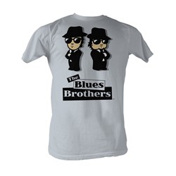 Blues Brothers, The - Blue Avatars Mens T-Shirt In Silver