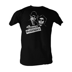 Blues Brothers, The - B&W Blue Mens T-Shirt In Black