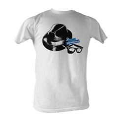 Blues Brothers, The - Hat And Glasses Mens T-Shirt In White