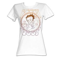 Betty Boop - Flower Boop Womens T-Shirt In White