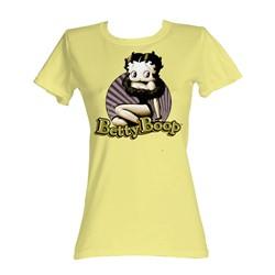 Betty Boop - Betty Circle Womens T-Shirt In Banana