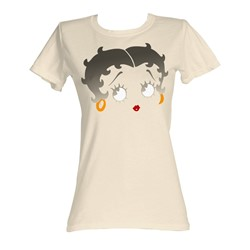 Betty Boop - Boopface Womens T-Shirt In Dirty White