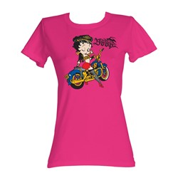 Betty Boop - Born To Boop Womens T-Shirt In Hot Pink