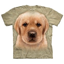 The Mountain - Mens Yellow Lab Puppy T-Shirt