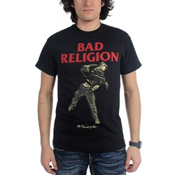 Bad Religion - Mens Dissent Of Man Vintage Black Slimfit T-Shirt