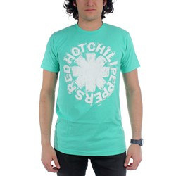 Red Hot Chili Peppers - Mens Hand Sketch T-Shirt in Turquoise
