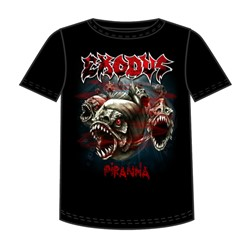 Exodus - Piranha Mens T-Shirt In Black