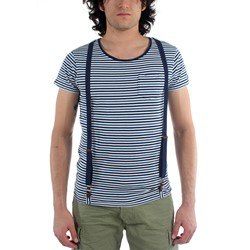 Scotch & Soda - Mens Crewneck T-Shirt with Suspenders