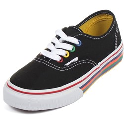 Vans - Kids Authentic Shoes in Rainbow Sidewall Black