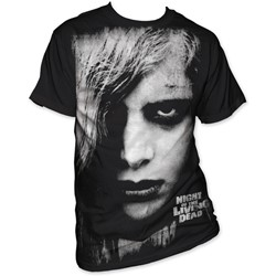 Night Of The Living Dead - Karen Cooper Big Print Subway Mens T-Shirt In Black