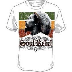 Bob Marley - Soul Rebel Adult T-Shirt in White