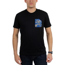 Akomplice - Mens Blue Floral Pocket T-Shirt