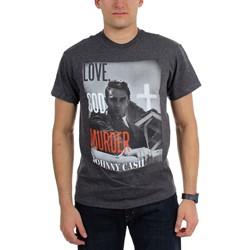Johnny Cash - Mens Love God Murder T-Shirt