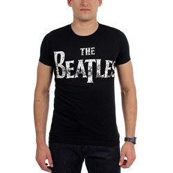 Beatles, The - Mens Distressed Logo T-Shirt