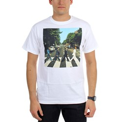 Beatles, The - Mens Abbey Road Walk White T-Shirt