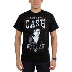 Johnny Cash - Mens Outlaw T-Shirt