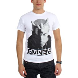 Eminem - Mens Finger Horns T-Shirt