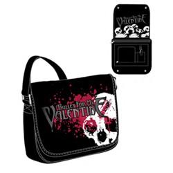 Bullet For My Valentine - Skulls Splatter Messenger Bag In Black