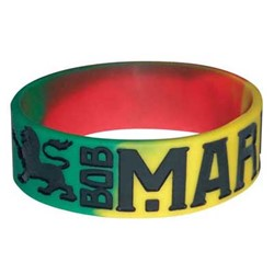 Bob Marley - Lions Silicone Wristband unisex-adult Wristband in Tri-Color