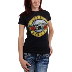 Guns n Roses - Womens Distressed Bullet T-Shirt