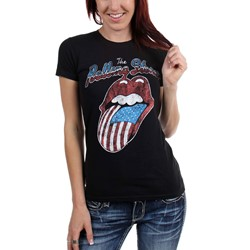 Rolling Stones, The - Womens Vintage Usa Tongue T-Shirt