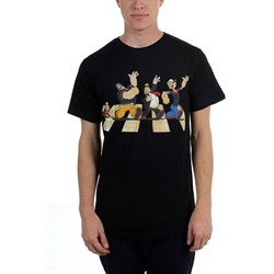 Popeye - Mens  Single File Line Lightweight  T-Shirt