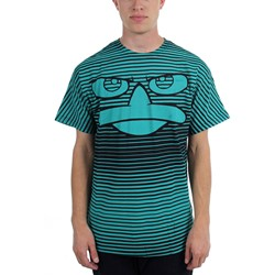 Phineas And Ferb - Mens  Striped P Aop  T-Shirt