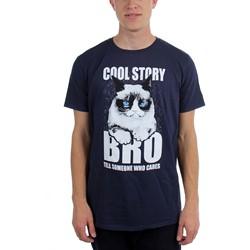 Grumpy Cat - Mens  Cool Story Bro, Tell It Again  T-Shirt