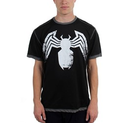 Venom - Mens  Augmented Legs Poly Mesh  T-Shirt