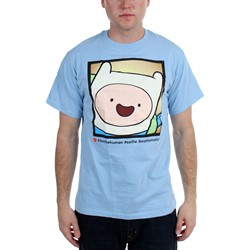 Adventure Time - Mens  Happy Finnking Photo  T-Shirt