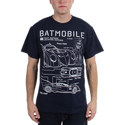 Batman - Mens  Batmobile Blue Print  T-Shirt