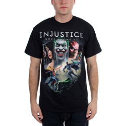 Injustice: Gods Among Us - Mens  Injustice Cover Art  T-Shirt