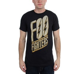 Foo Fighters - Mens Slanted Logo Slim Fit T-shirt in Black
