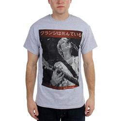 Kurt Cobain - Guitar Kurt Mens T-Shirt In Heather Grey