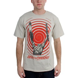 Army Of Darkness - Muscle Pose Swirl Adult T-shirt In Cobblestone