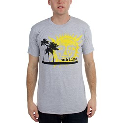 Sublime - Mens  Palm Trees With Sun Slim Fit  T-Shirt