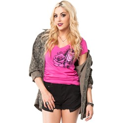 Metal Mulisha - Womens Dani G Tempest V-Neck T-Shirt