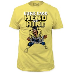 Marvel Comics - Mens Luke Cage Hero For Hire Fitted T-Shirt