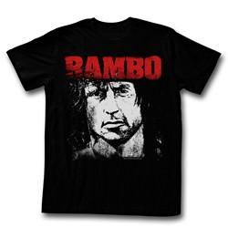 Rambo - Mens Red&White T-Shirt