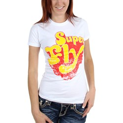 Super Fly - Logo Jr Women's T-Shirt in White