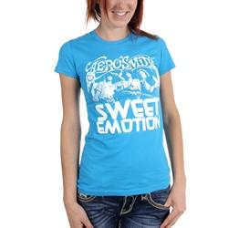 Aerosmith - Womens Sweet Emotion T-Shirt in Turquoise