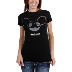Deadmau5 - Jrs Logo W/Silver Foil Tissue T-Shirt In Black