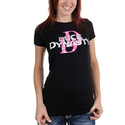 Duck Dynasty - Juniors  Pink Camo Logo  T-Shirt