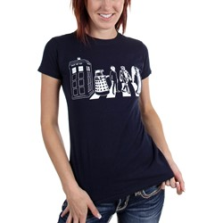 Dr. Who - Womens Police Street Crossing T-Shirt