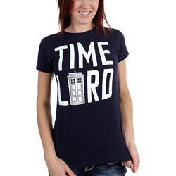 Dr. Who - Womens Time Lord w/Tardis T-Shirt