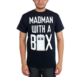 Dr. Who - Mens Mad Man With A Box Verbiage T-Shirt