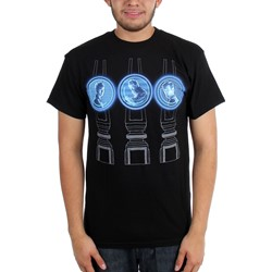 Dr. Who - Mens 3 Doctors Projections T-Shirt
